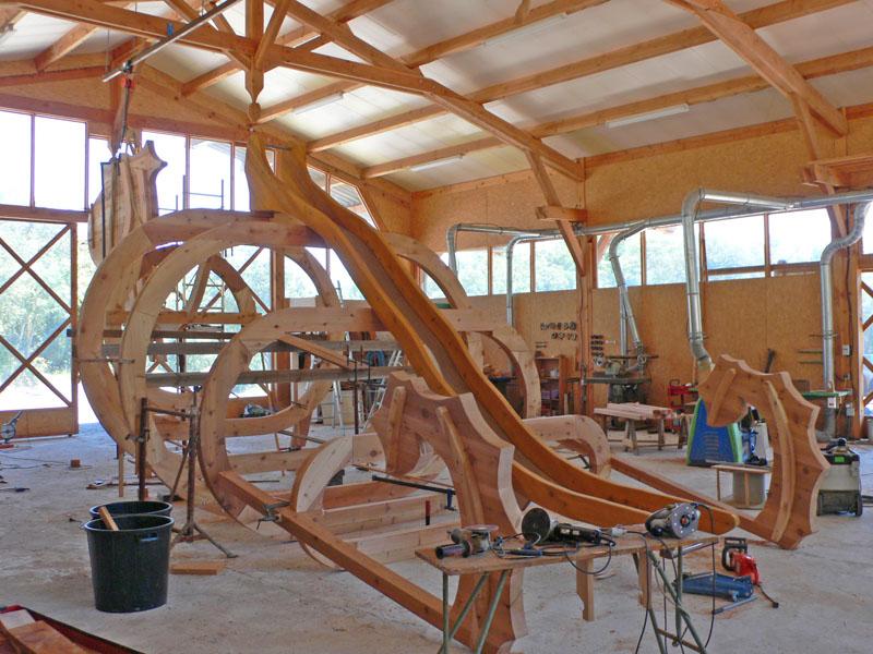 Aires jeux bois animal fantastique tobbogan balan oire for Construction xylophone bois